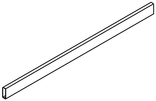 Rectangular rail divider, to cut to length