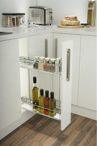 Black Acrylic Insert for Pull Out storage unit/pair