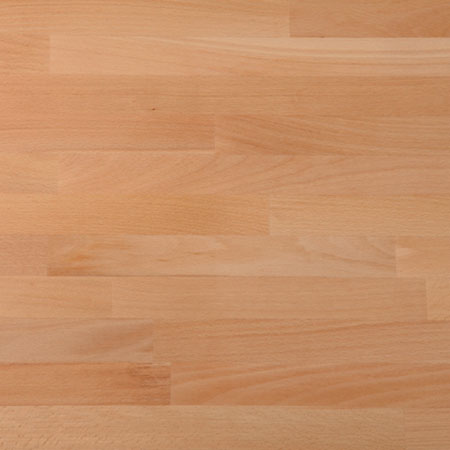 Solid timber worktop, prime beech