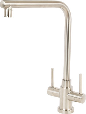 Monoblock mixer tap, with filter system