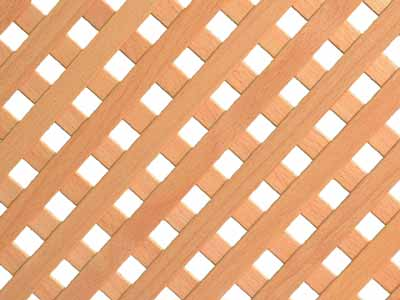 Decorative slatted panel