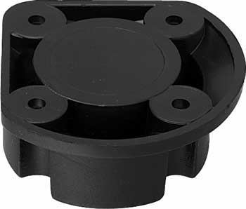 Top section, screw mounting, black plastic