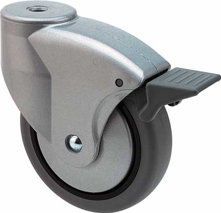 Swivel castor without brake, 70 kg, 100 mm