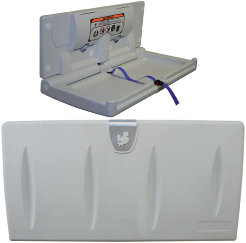 Baby changing unit, plastic