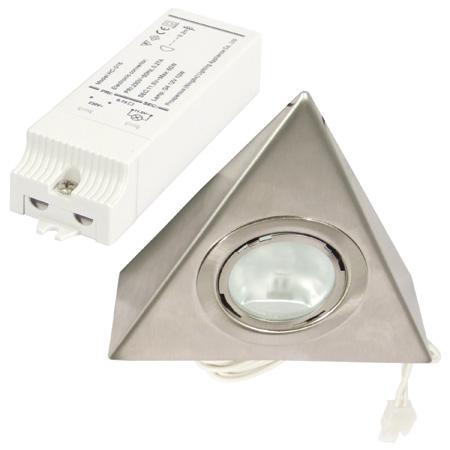 Halogen triangular light set, 12V/2x20W, packed set