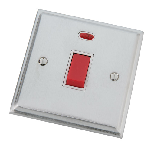 Single cooker switch with neon