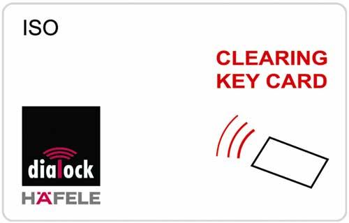 Clearing key card