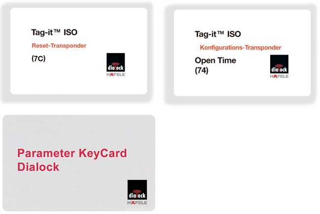 Open Time and Parameter key cards