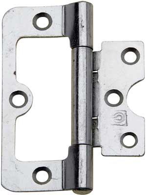 Steel flush hinge, 63 x 43 mm electro brass