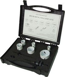 Electrician's holesaw kit