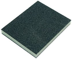 Soft foam sanding pads, 120 x 98 x 13 mm