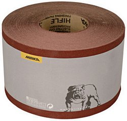 Hiflex flexible abrasive paper roll, 115 mm wide P2