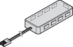 Loox LED 2009 / 2010 RGB distributor, 9-way