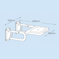 Extended Shower Seat 650mm Projection