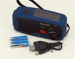 PowerPlus Panther Dynamo & Solar FM Powered Radio