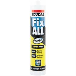 Fix All Turbo super fast SMX sealant and adhesive Colour: White,