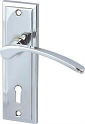 DRAYTON lever handles with backplates for lever lock, zinc alloy