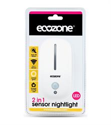 Ecozone 2 in 1 Sensor Nightlight