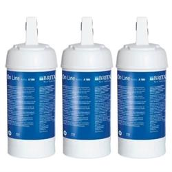 Brita Set of 3 replacement Cartridges/filter head/starter kit