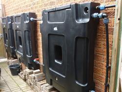 RainCatcher 200L Wall Mounted Rainwater Tank Black