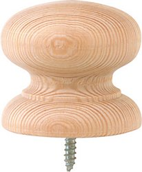 Knob, 25 mm with screw attached, beech