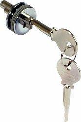 Glass door plug-in cylinder locks