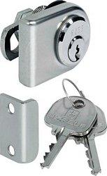 Glass door cylinder lever lock, random key changes
