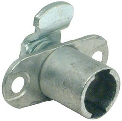 Cam lock case, outward cranked lever