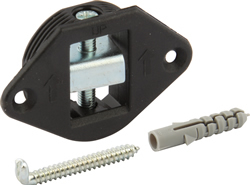 Concealed bracket, with embedded bracket and screw hook set