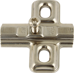 Keyhole Mini hinge mounting plates, for Hospa screws