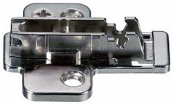 Cruciform cam adjusting mounting plate, for click on system