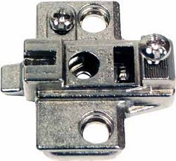 Super compact cruciform mounting plate, for slide on system