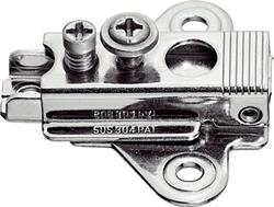 Slide on mounting plate, side adjustment