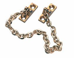 Safety chain, polished brass