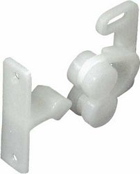 Twin roller catch, spring loaded, nylon