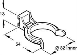 Plinth clip, black plastic