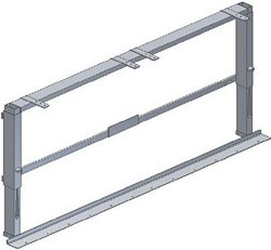 VertiBasic height adjustable frame for wall units