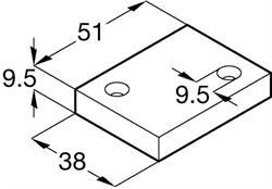 Classic Flat Track System anti-jump block (System 142/144)