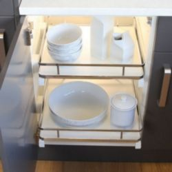 HäFele Pull Out Basket Set With Solid White Base
