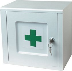 Lockable bathroom medicine cabinet