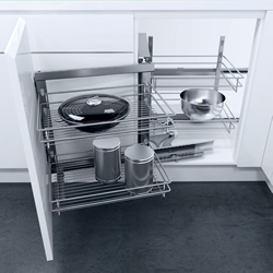 Wari Magic Corner swing out , automatic pull-out action, with CLASSIC SILVER linea