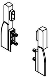 Rectangular rail clips for Nova Pro Deluxe standard internal pan drawer