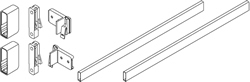 Rectangular railing set, 300 mm length