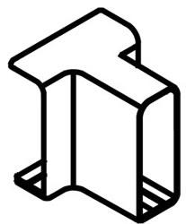 Clips for rectangular divider rail