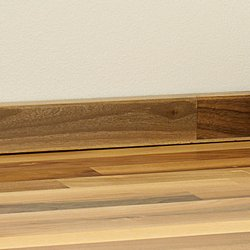 Solid timber upstand