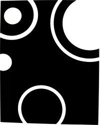 Glass splashback, 595 x 745 mm contour pattern (white on black)