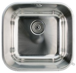 Undermount single bowl sink