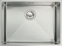 Stainless steel undermount single bowl, 570 x 430 mm