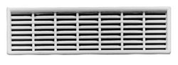 Ventilation grill, 130 x 38 mm, for recess mounting
