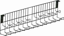 Wire double tier Cable Channel Blk 1455mm